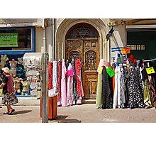 colorful fabrics Photographic Print