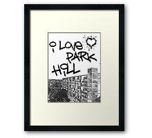 I Love Park Hill Framed Print