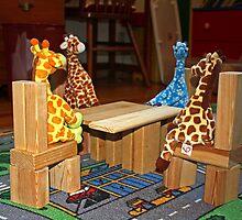 Giraffe Picnic by Donna R. Carter