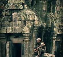 Guarding Ta Phrom by Caroline Fournier