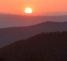Blue Ridge Mountain Sunset by Stephen Vecchiotti
