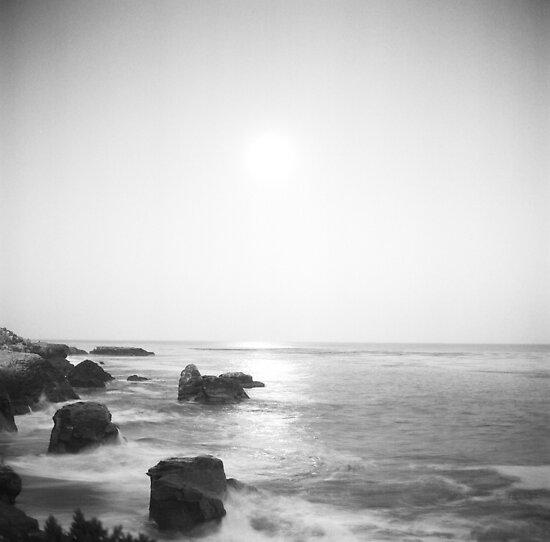 sunset on the sea by irisphotography