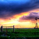 Sunset mill by Rase Littlefield