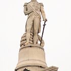Admiral Nelson atop Nelsons Column. by Andy Moseley