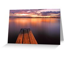 Swan River Jetty Sunset  Greeting Card