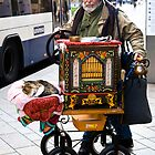 Swiss organ grinder & friend by Alex Howen