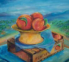 Peachs painting by schiabor