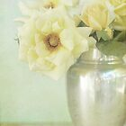 Yellow Roses in Silver Vase by shanarae