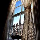 Window Heceta Head Lighthouse keepers house by Marylamb