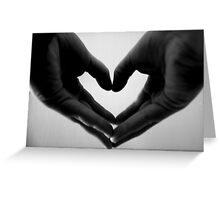 Holding my heart in my hands Greeting Card