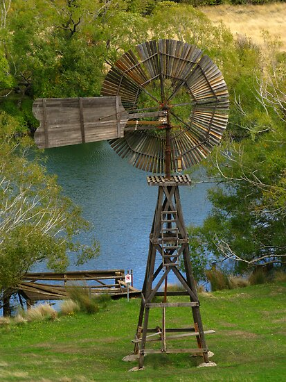 Wooden Windmill by Marilyn Harris