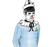 Spock the Clown by burntfeather