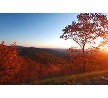 Shenandoah Autumn Sunrise Photographic Print