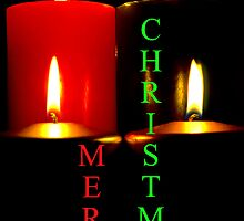 Lighted Christmas Candle Greeting - 6A by SteveOhlsen