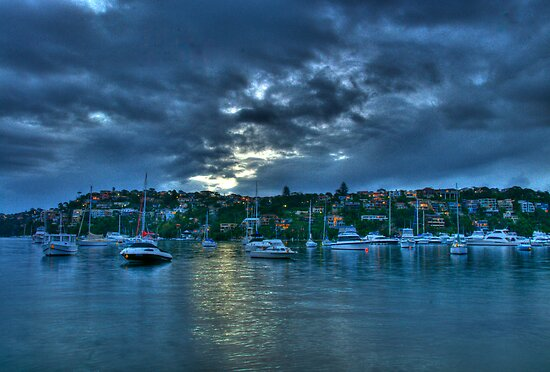 Light On The Water - Middle Harbour, Sydney - The HDR Experience by Philip Johnson