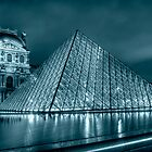 Louvre au Cyan by Victor Pugatschew
