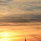 Telstra Tower at Sunset by Silvia Solberg