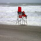 Hurricane on beach in NY. Lonley Lifeguard! by Jacker