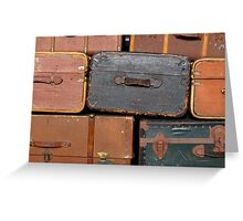 Suitcase background Greeting Card