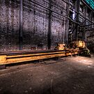 Big Yellow Lathe - Cockatoo Island - Sydney Harbour by Jeff Catford