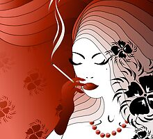 Smoking woman by Olga Altunina