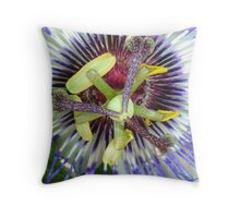 Passion Flower Close Up Throw Pillow