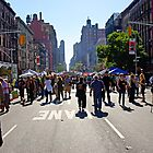 Columbus Day on Amsterdam Avenue, New York by coralZ