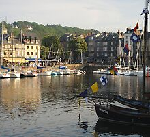 Flags over Honfleur by triciamary