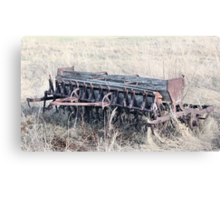Antique Grain Seeder 1925 - 1926 JD VAN BRUNDT Canvas Print