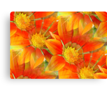 Seamless Vibrant Yellow Gazania Flower Canvas Print