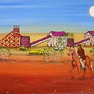 """Ned Kelly at the Gold Mine""  Australia; Original  Sold by EJCairns"