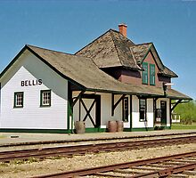 Bellis Railway Station, Ukrainian Heritage Village, near Edmonton, Alberta, Canada by Adrian Paul