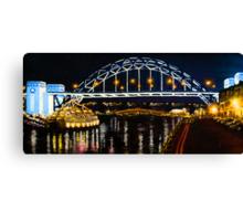 Oil Painting - Newcastle Bridge Canvas Print