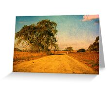 The Bend in the Road by the Willow Tree Greeting Card