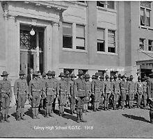 Gilroy High School R.O.T.C.  1918 by Edward Henzi