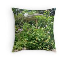 Gazebo at June's Garden, Bayou George, FL Throw Pillow
