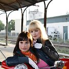 Vespa girls by Monique Basson
