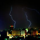 Lightning over Amman by Robert Case