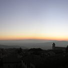 Panoramic sunset from Perugia's majestic vantage point (best viewed large). by Philip Mitchell