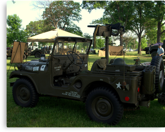 Military Jeep With Swivel Pod Mounted 30 cal. Machine Gun by TeeMack