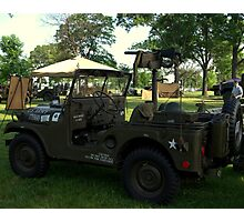 Military Jeep With Swivel Pod Mounted 30 cal. Machine Gun Photographic Print