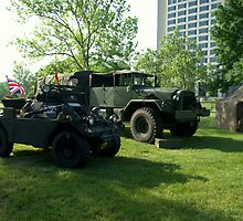1956 Diamler Scout Military Vehicle and 6 X 6 Military Truck by TeeMack