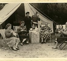 From the family album: Grandmother Postma goes camping.  by MrJoop