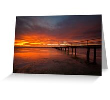 Sunrise at the Rippleside Pier Greeting Card