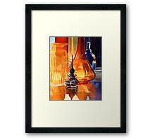 """Hide and Seek"" Art Glass Watercolor, Paul Jackson Framed Print"