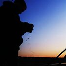 Fisherman Silhouette by Donna Chapman