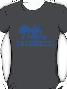 Cottage w/ Picket Fence (Blue design) T-Shirt