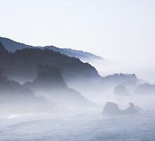 misty sea stacks, Oregon coast by Christopher Barton