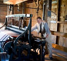 Weaver, M. Asselstine's Woolen Factory, Upper Canada Village, Ontario by Mike Oxley