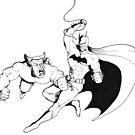 Wolverine Vs Batman by Jimmy Tannahill